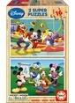 Educa Educa Çocuk Puzzle Ahşap 2 X 16 Mickey Mouse Renkli